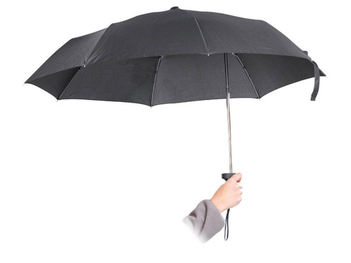 Parapluie ergonomique avec manche décentré