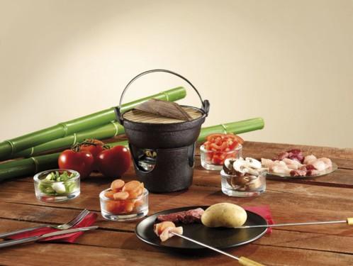 service fondue complet avec caquelon chinois et. Black Bedroom Furniture Sets. Home Design Ideas