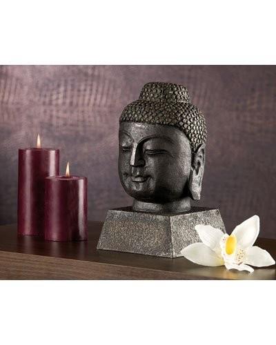 Statuette Bouddha aspect bronze ancien