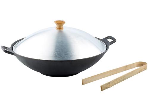Wok en fonte - diamètre 37 cm