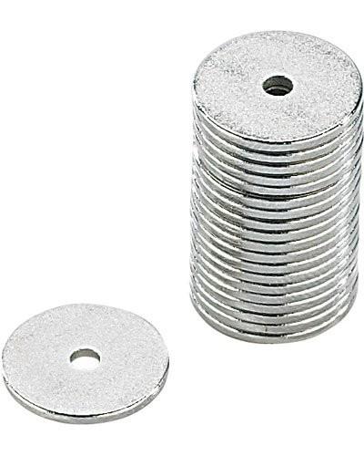 20 aimants en néodyme - 12 X 1 mm - avec trou