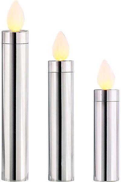 3 Bougies à LED en inox