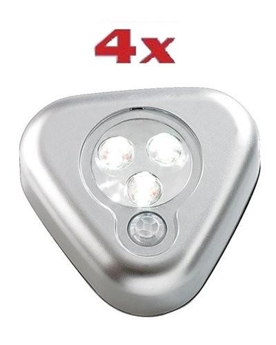 achat 4 lampes à led mobiles à détecteur de mouvements | pearl.fr
