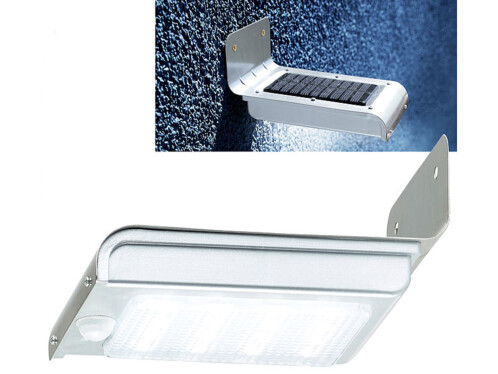 Applique murale solaire à LED avec capteur PIR et capteur d'obscurité - Deluxe