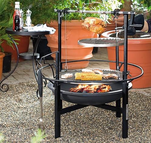 achat barbecue charbon m gagrill 2 niveaux et tourne broche. Black Bedroom Furniture Sets. Home Design Ideas