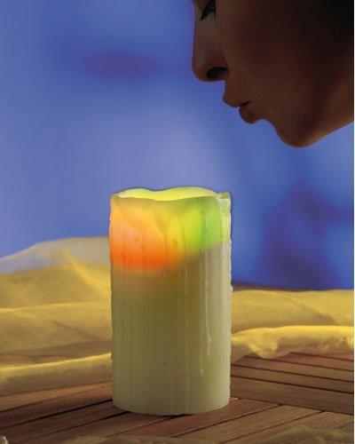 Bougie LED à souffler - 10 cm