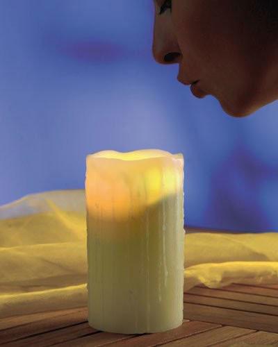 Bougie LED à souffler - 15 cm