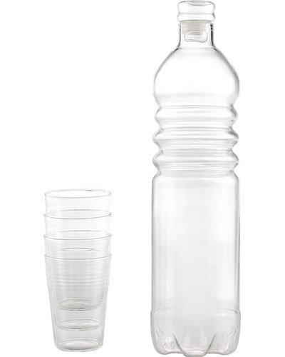 acheter bouteille en verre herm tique avec 4 verres. Black Bedroom Furniture Sets. Home Design Ideas