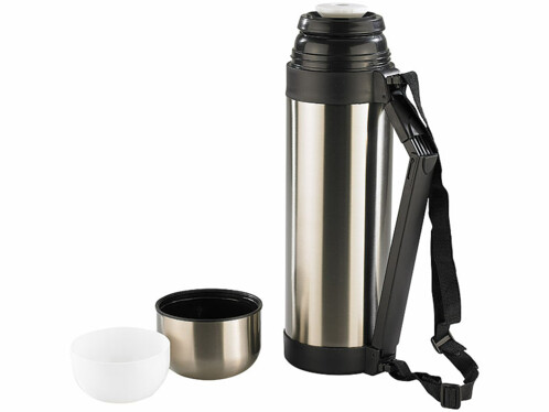 Bouteille isotherme en inox + 2 gobelets - Maxi 1,8 L