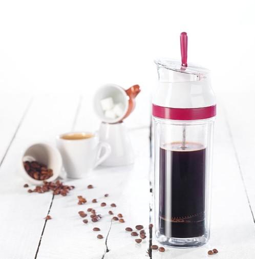 cafeti re piston pour expresso et caf s cors s avec paroi isolante. Black Bedroom Furniture Sets. Home Design Ideas