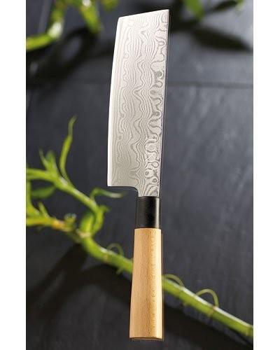 Couteau hachoir Damas - 17,5 cm