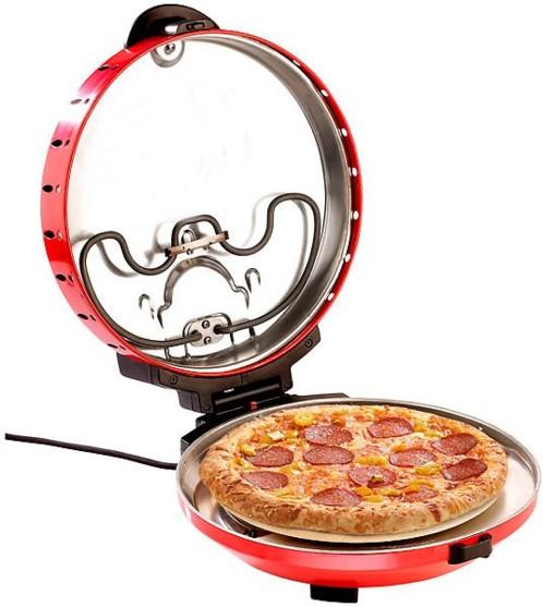 Cuiseur à pizza avec minuteur et pierre de cuisson