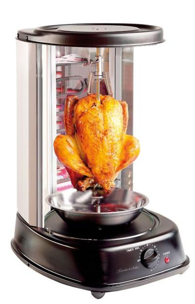 Grill vertical pour kebab et volaille - 2000 W