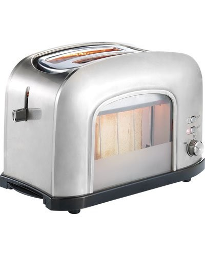 Grille pain toaster inox 750 w pas cher avec fen tre en verre - Grille pain transparent magimix ...