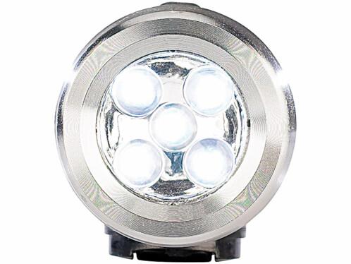 Lampe de poche dynamo en métal