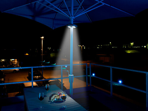 Lampe pour parasol télécommandée