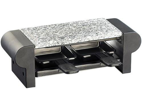 Mini-raclette 'Duo' avec gril et pierre à cuisson - noir