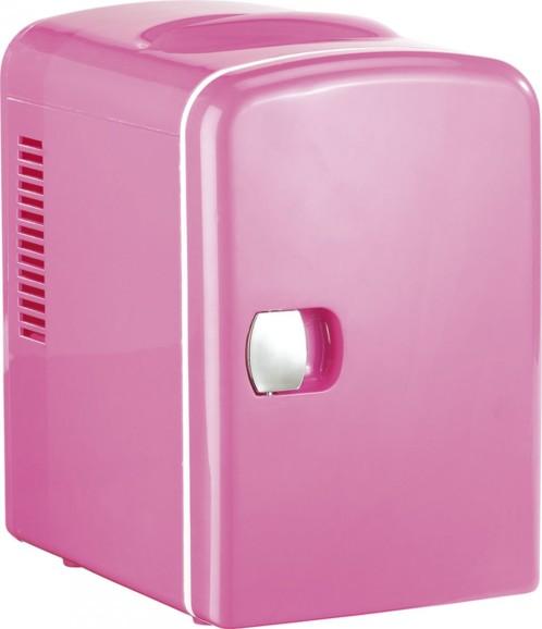 Mini réfrigérateur 2 en 1 avec prise 12 / 230 V - Rose