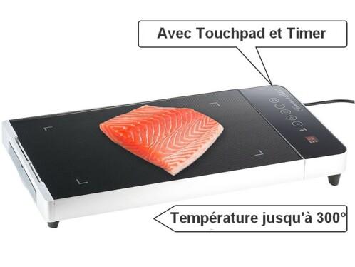 Plancha vitrocéramique tactile avec minuteur 800W