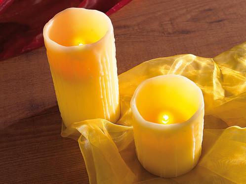 Set de 2 bougies LED à souffler (10 cm + 15 cm)