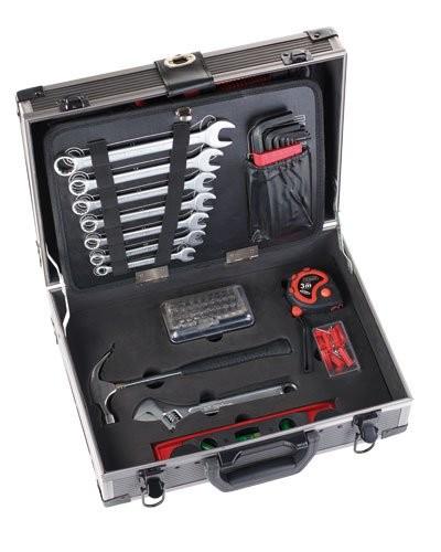 Mallette outils en m tal avec 64 ou 133 outils de luxe - Rangement valise optimise ...
