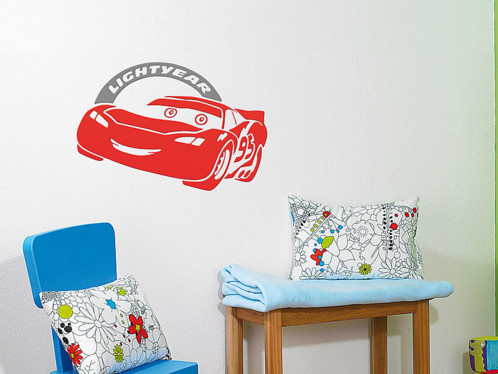 Cars Sticker 3D personnalisable Flash Mcqueen