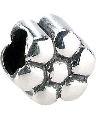 Perle en argent 925/1000 en forme de fleur