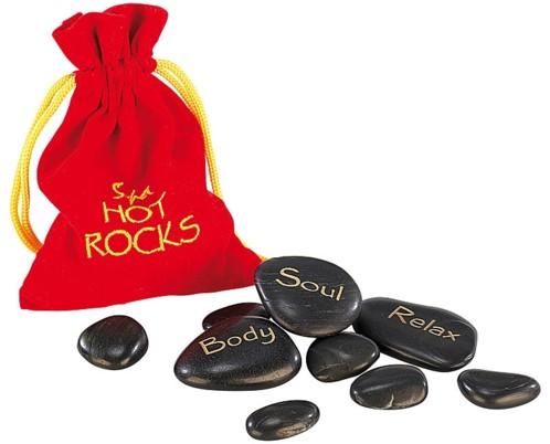 9 Pierres pour massage ''Hot Stones''