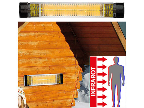 Chauffage radiant infrarouge d'extérieur - 2500 W ''IRW-2500''