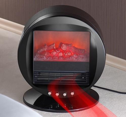 achat chemin e lectrique circulaire avec effet de flammes. Black Bedroom Furniture Sets. Home Design Ideas