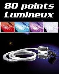 Ciel étoilé LED en fibres optiques multicolore