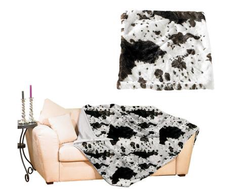 Couverture imitation fourrure vache