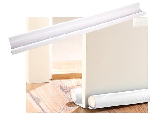 2 doubles boudins isolants pour portes et fenêtres - blanc