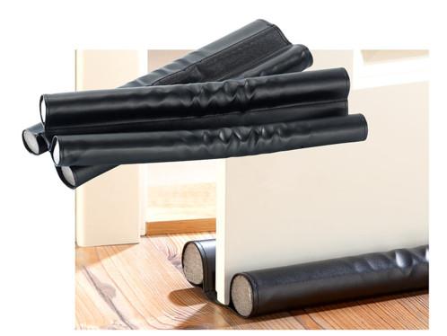 2 doubles boudins isolants pour portes et fenêtres - cuir noir