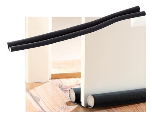 Double boudin isolant pour portes et fenêtres - noir