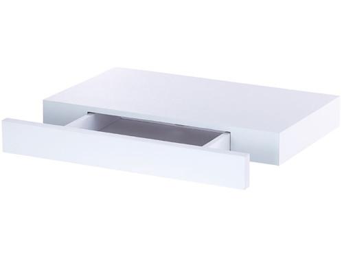 etagere rectangulaire blanc pour entree avec tiroir discret carlo milano