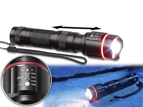 Lampe de poche étanche à LED Cree avec boîtier en aluminium - LED 10 W / 780 lm