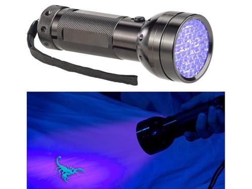 Lampe de poche UV et testeur de billets nomade 2 en 1 à 51 LED