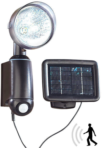 Lampe solaire murale avec d tecteur pir et plaque amovible for Eclairage exterieur solaire avec detecteur