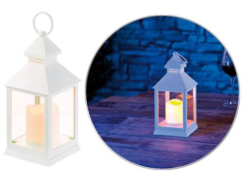 Lanterne LED vacillante à piles - Blanc
