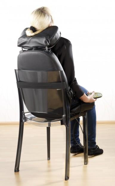 matelas chauffant de massage nuque et dos pour chaises. Black Bedroom Furniture Sets. Home Design Ideas