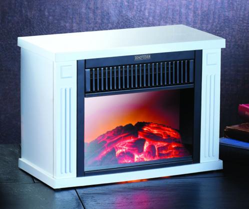 Mini-cheminée électrique 1200 W - blanc