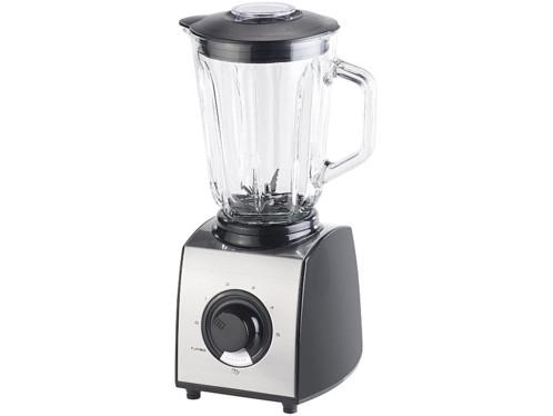 blender mixer avec grande carafe en verre et fonction ice crush pour glace pilée rosenstein