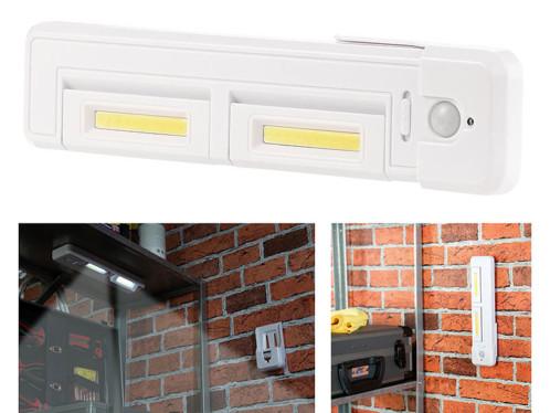 réglette led à piles telecommandee pour atelier ou placard avec lumiere orientable et detecteur de mouvement