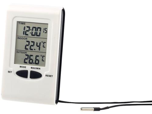 thermomètre digital filaire pour extérieur et intérieur pas cher