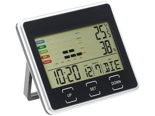 Thermometre Hygrometre Digital Avec Horloge Et Date Avec Aimant
