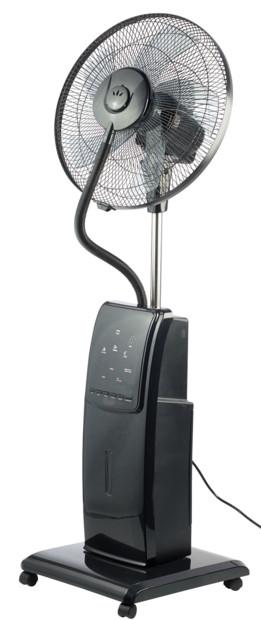 ventilateur sur pied avec vaporisateur d'eau anti insecte avec tete oscillante sichler