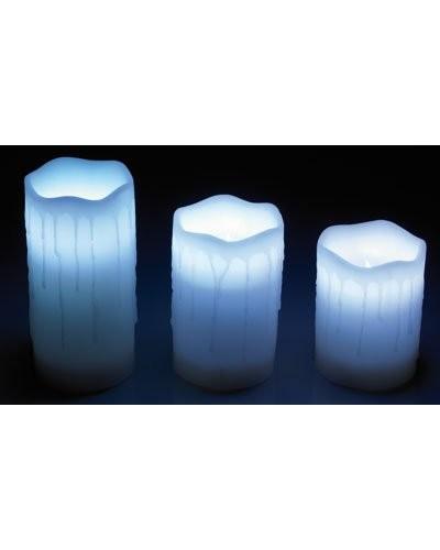 Prix 3 bougies en cire led couleur changeante - Led couleur changeante ...