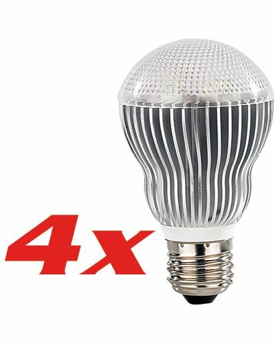 4 Ampoules 6 Power LED E27 blanc chaud