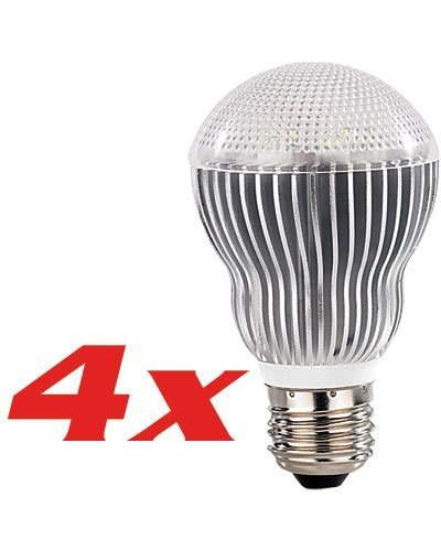 4 Ampoules 6 Power LED E27 blanc froid
